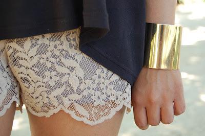 Shorts de encaje: la tendencia más romántica y elegante