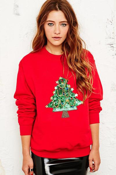 Jerseys con árbol de Navidad