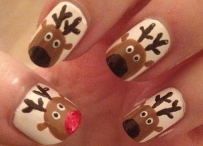 Nail art renos navideños