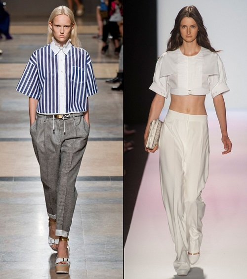 Tendencia crop top y cropped shirts 11