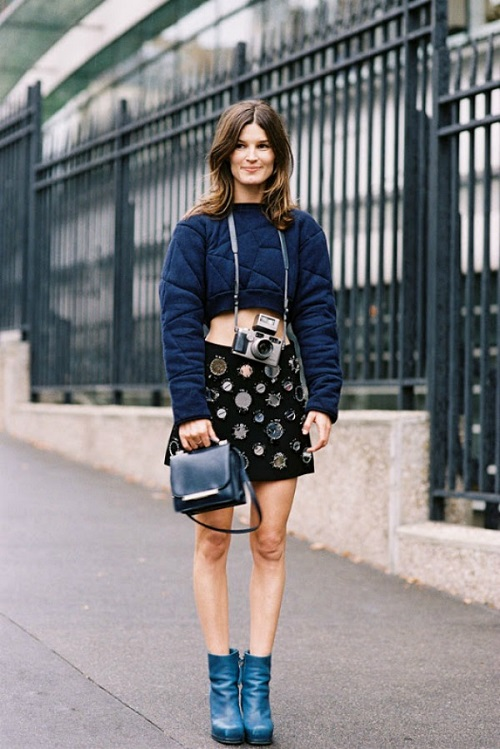 Tendencia crop top y cropped shirts 18