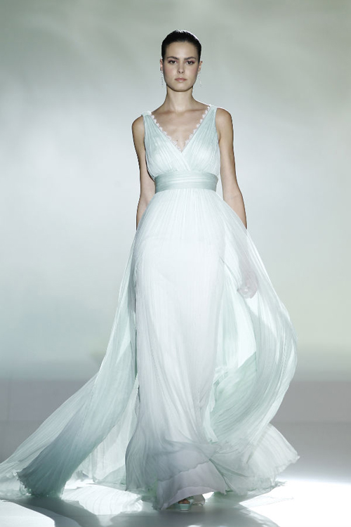 Vestido de novia griego desfile