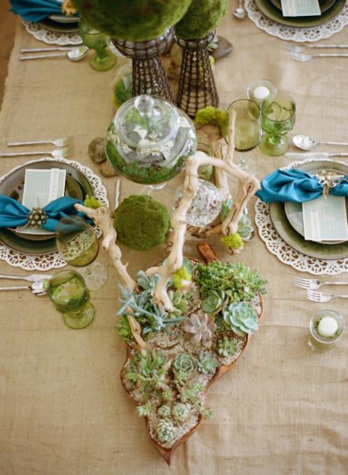 platos y copas para boda