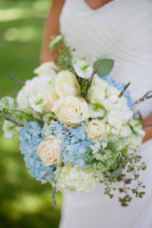 ramo azul y vainilla