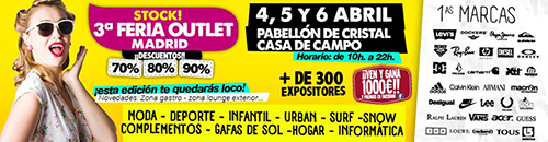 cartel feria outlet