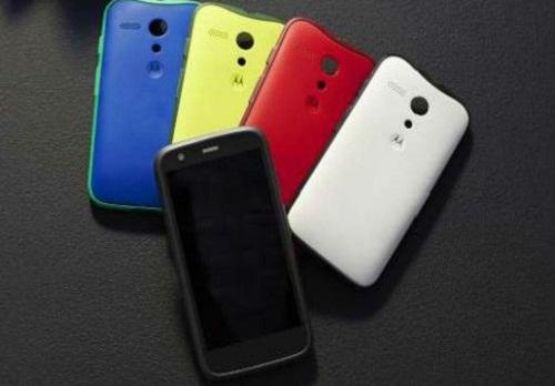 Motorola Moto E - comparación de colores