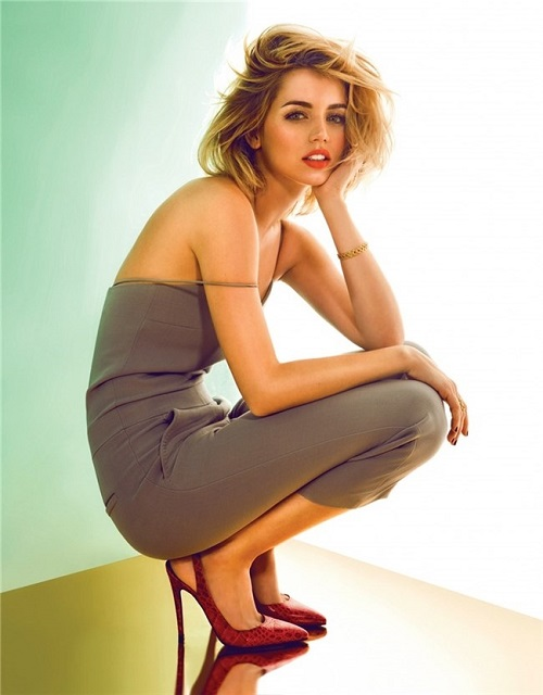 Shooting Ana de Armas
