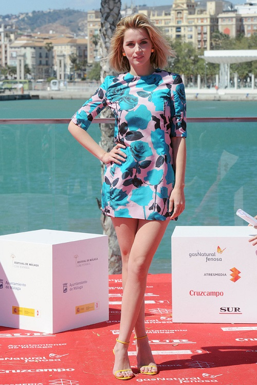Vestido de cocktail en el Festival de Málaga