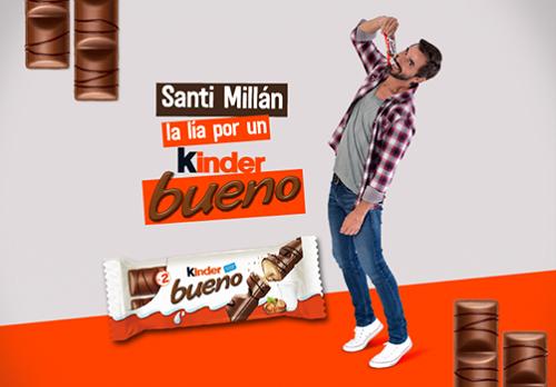 ¿Qué hará Santi Millán por un Kinder Bueno?