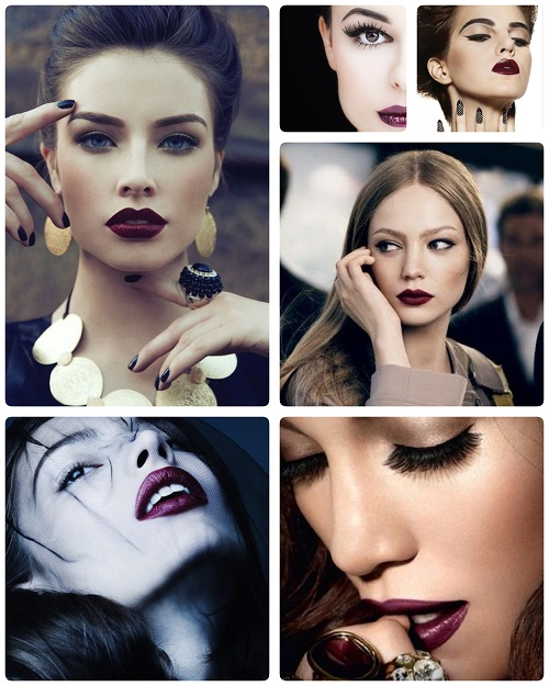 Tendencia de maquillaje para este invierno labios color for Labios burdeos