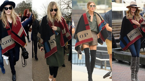 capa manta burberry celebrities