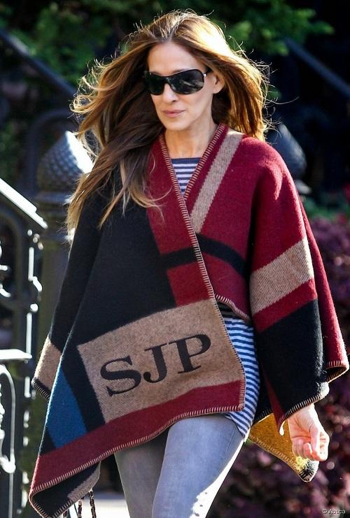 capa manta burberry sarah-jessica-parker