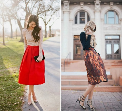 falda midi combinaciones