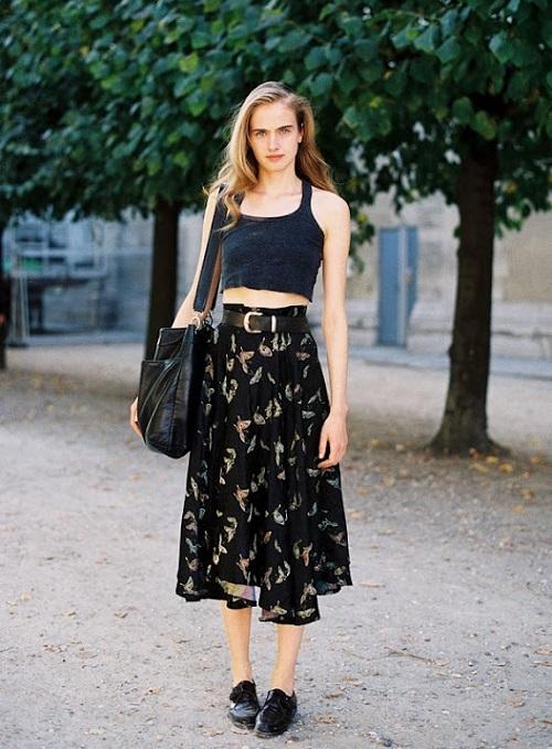 streetstyle falda midi (2)