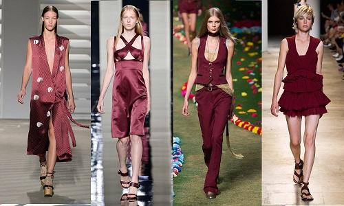 tendencias moda 2015 rojo terroso