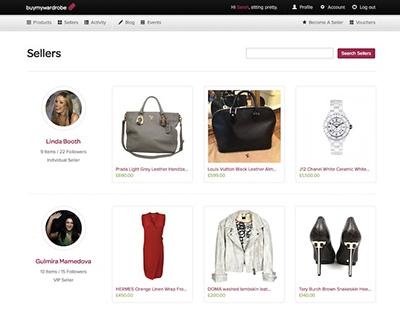buy my wardrobe interfaz pagina web online shopping moda accesorios segunda mano compra venta internet