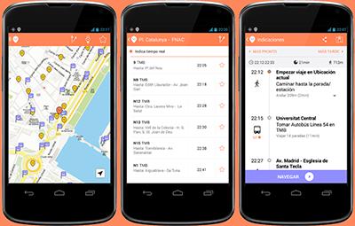 moovit interfaz app smartphone tablet android viajar planificar trayectos gps mapa