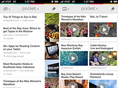 pocket app movil smartphone tablet organizacion contenidos
