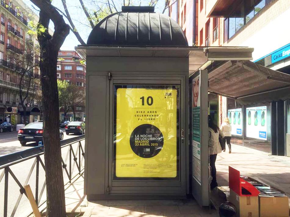 publicidad mupi madrid noche de los libros 2015 decima edicion
