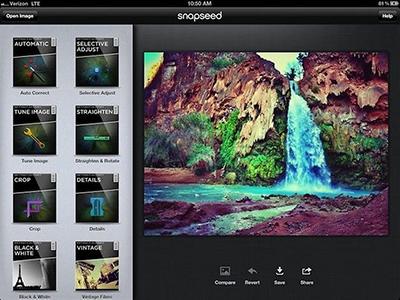 snapseed app smartphone retoque fotografico