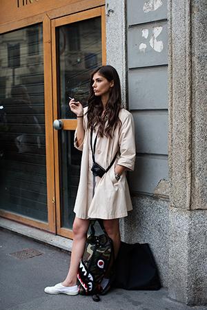 street style primavera 2015 trench tendencia moda mujer gabardina