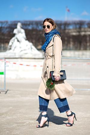 trench street style semana de la moda paris moda tendencias primavera 2015
