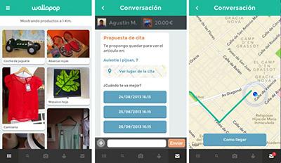 wallapop interfaz compra venta objetos app aplicacion smartphone tablet