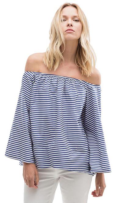 blusa uterque hombros descubiertos escote bardot moda verano 2015