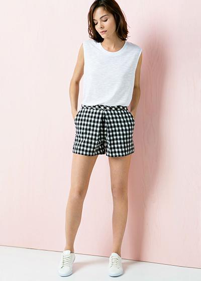 cuadros vichy shorts moda verano 2015