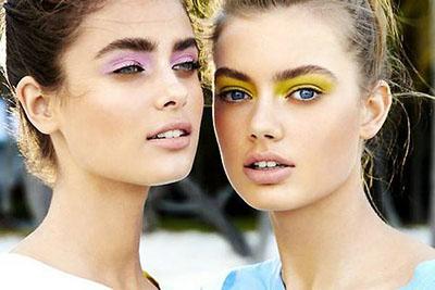 maquillaje colores fluor tendencias belleza primavera