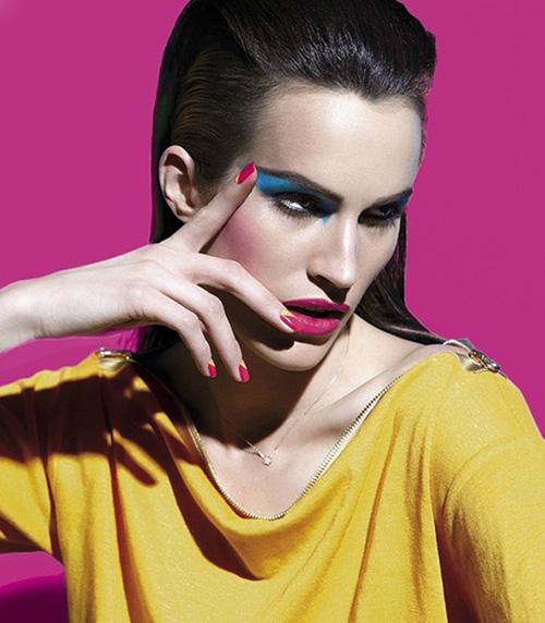 maquillaje neon colores fluor tendencias belleza primavera