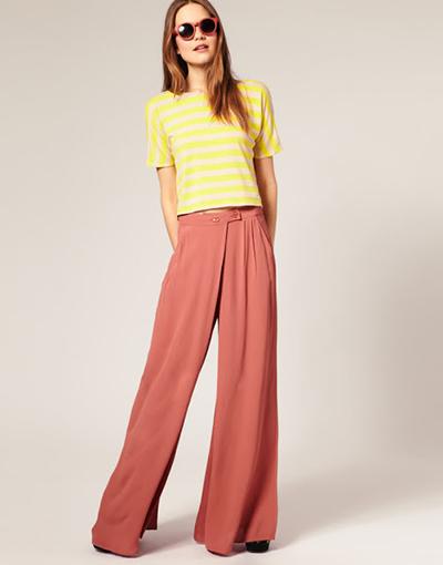 pantalon tendencias moda palazzo culotte pernera ancha primavera verano 2015