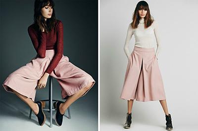 pantalones culotte tendencias primavera verano 2015
