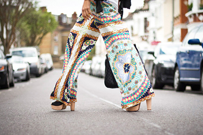 pantalones palazzo estampado moda tendencias primavera verano