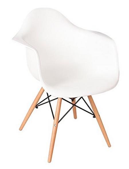 Silla vintage estilo retro en color blanco