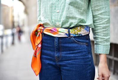 carre hermes accesorio cinturon pañuelo seda