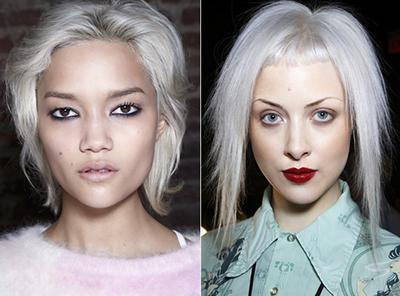dkny tendencia pelo gris tinte plateado cabello