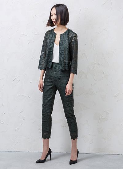 moda verano tendencia troquelado tela perforada calada