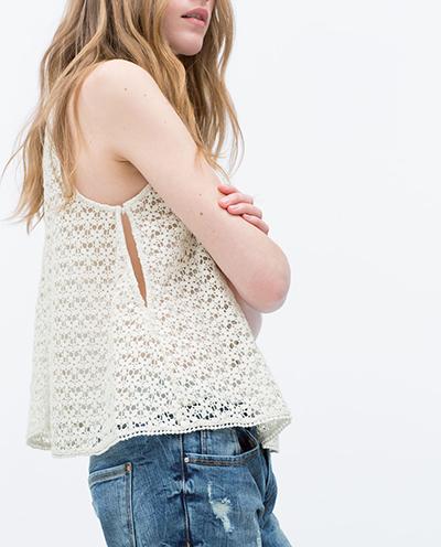 top crochet zara tendencia moda verano