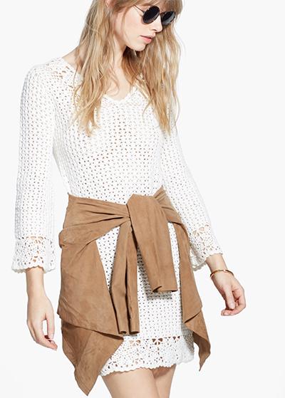 vestido crochet mango tendencia moda verano 2015