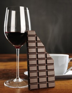 cafe chocolate vino alimentacion salud