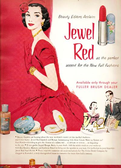 publicidad vintage pintalabios