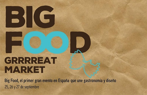 big food market evento gastronomia diseño cartel