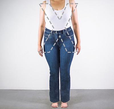 figura cuerpo mujer silueta forma x
