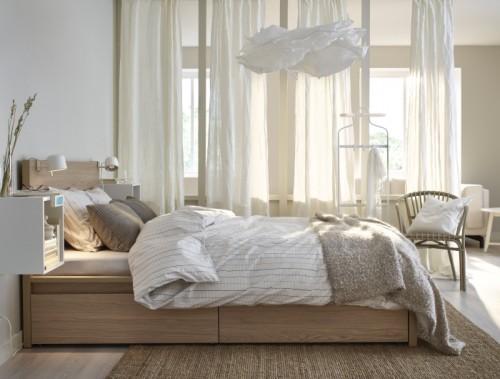 dormitorio descanso relax reparador ikea colchones comodos somier madera