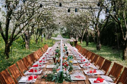 mesa boda jardin