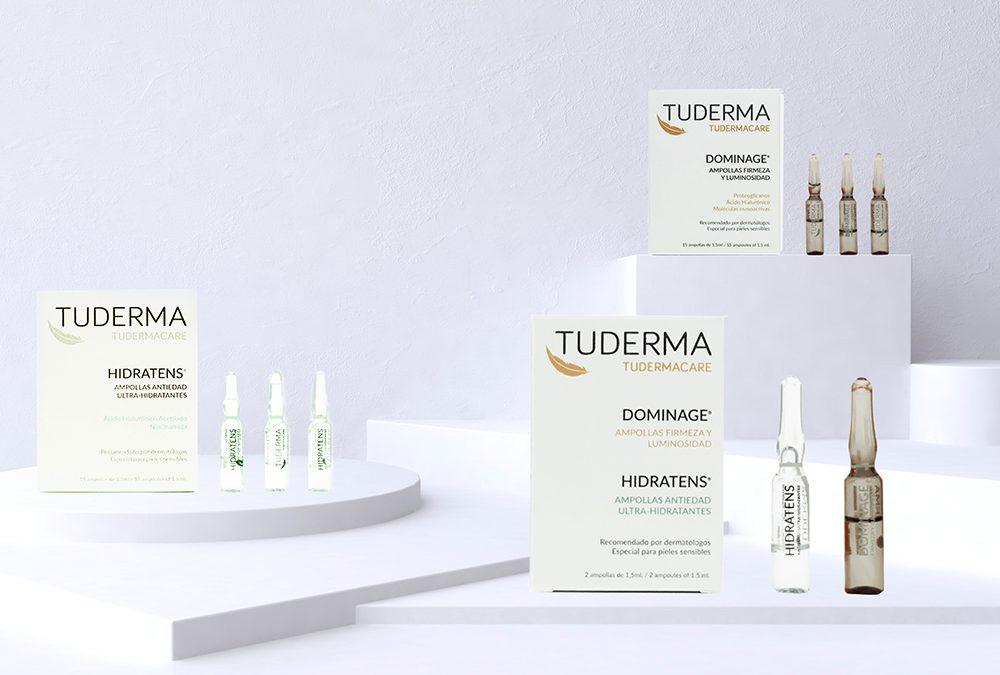 TUDERMA lanza las primeras ampollas con efecto tensor, ultra hidratante y antiedad, especiales para pieles sensibles