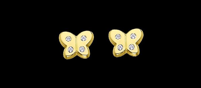 pendientes-de-oro-para-bebe-de-mariposa